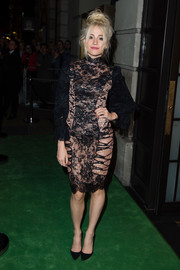 Pixie Lott was a scene-stealer in a sheer black lace dress at the Green Carpet Challenge BAFTA Night.