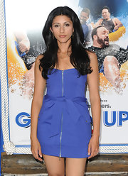 Reshma Shetty's zippered blue mini dress at the 'Grown Ups' premiere was girly and sexy at the same time.