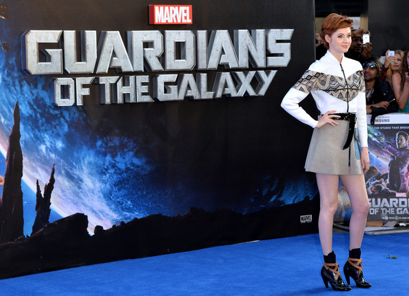 More Pics of Karen Gillan Messy Cut (1 of 17) - Short Hairstyles Lookbook - StyleBistro [guardians of the galaxy premieres,fashion,costume,event,games,performance,model,competition event,karen gillan,part,london,uk,england,empire leicester square,premiere]