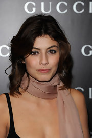 Alessandra Mastronardi looked beautiful with her hair in a center part and soft waves.