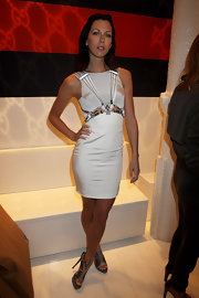 Margo showed off her love for Gucci at their London opening. She donned a dress from they're Spring 2010 collection.