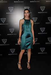 Charlotte Casiraghi was ravishing on the red carpet at the Gucci museum opening in a green cocktail dress with fringe detailing.