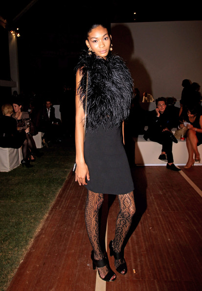 More Pics of Chanel Iman Cocktail Dress (1 of 3) - Chanel Iman Lookbook - StyleBistro [fashion model,fashion,fashion show,clothing,runway,fashion design,dress,haute couture,footwear,event,chanel iman,s/,milan,italy,gucci,gucci party,milan fashion week,milano fashion week womenwear spring]