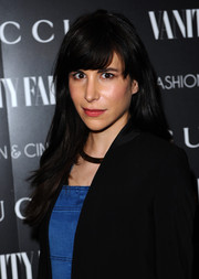 Caroline Sieber attended the 'Gucci and Vanity Fair: The Director' screening wearing a casual straight 'do with blunt bangs.