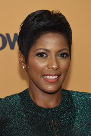 Tamron Hall opted for a fauxhawk when she attended the New York premiere of 'Belief.'