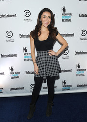 Grace Parra donned a fitted, square-neck top for the New York Comedy Festival kick-off party.