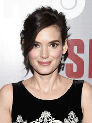 Winona Ryder looked glamorously cool with her messy updo at the New York screening of 'Show Me a Hero.'