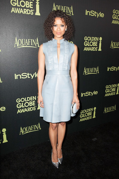 Gugu Mbatha-Raw Hard Case Clutch [season,clothing,dress,cocktail dress,fashion model,premiere,fashion,carpet,shoulder,fashion design,waist,arrivals,gugu mbatha-raw,fig,golden globe award,olive melrose place,west hollywood,california,hollywood foreign press association,instyle]