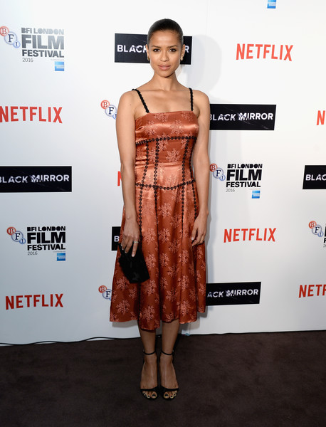 Gugu Mbatha-Raw Print Dress