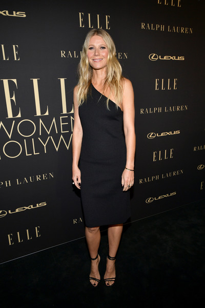 Gwyneth Paltrow One Shoulder Dress [clothing,dress,little black dress,cocktail dress,fashion,premiere,shoulder,footwear,fashion model,shoe,lexus - arrivals,26th annual women in hollywood celebration,ralph lauren,gwyneth paltrow,los angeles,beverly hills,california,the four seasons hotel,elle,lexus]