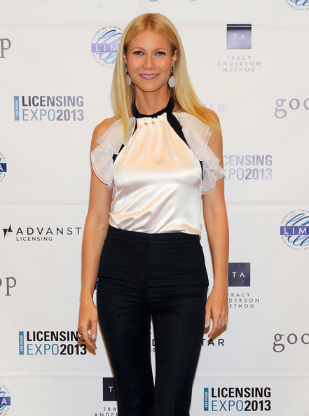 More Pics of Gwyneth Paltrow Ruffle Blouse (2 of 14) - Gwyneth Paltrow Lookbook - StyleBistro