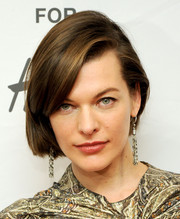 Milla Jovovich sported a short bob at the H&M Isabel Marant VIP pre-shopping event.