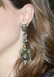 These cool scarab earrings gave Sophia Bush a slightly edgy look at the H&M Loves Music Event.