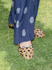 Sophia Bush showed her love of felines with these leopard print kitty loafers.
