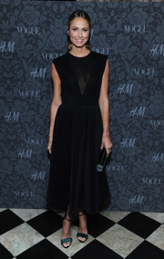 Stacy Keibler looked timeless in this sheer-panel LBD at the H&M and Vogue Studios Between the Shows party.