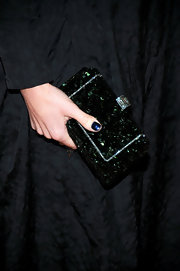 Lena Headey's gemstone-inlaid clutch was a super-glam addition to her ensemble at HBO's Emmy Awards reception.