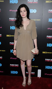Aleksa Palladino chose a dark tan flowing frock for her look while out at the screening of 'Pussy Riot: A Punk Prayer.'