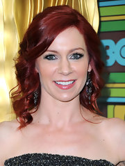 Carrie Preston paired her ravishing red locks with decadent jewels.