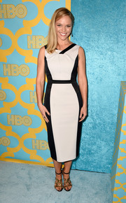 Lauren Bowles looked mod in a black-and-white sheath dress at the HBO Golden Globes party.