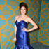 Emily Mest Lookbook: Emily Mest wearing Madeline Gardner Mermaid Gown (2 of 4). Emily Mest was a glamorous head turner at the HBO Golden Globes party in an electric-blue mermaid gown by Madeline Gardner.