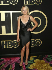 Malin Akerman looked seductive in a little black slip dress by Cushnie at the HBO post-Emmy reception.