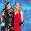 Aidy Bryant (in Eloquii) and Kate McKinnon at HBO's Post Emmy Awards Reception