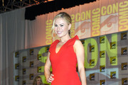 Actress Anna Paquin speaks at HBO's