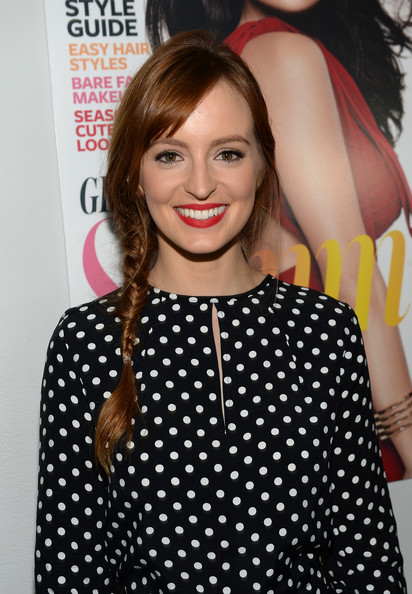 Ahna O'Reilly topped off her look with a lovely loose braid when she attended the Elizabeth and James collection party.