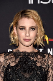 Emma Roberts played up eyes with winged liner.