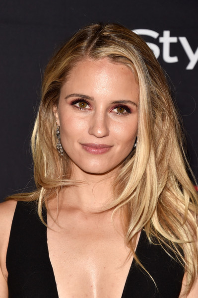 Dianna Agron attended the HFPA and InStyle TIFF celebration wearing a tousled layered cut.