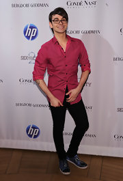 "Christian Siriano looked casual cool when he arrived at the 'Sex and the City 2"" premiere."