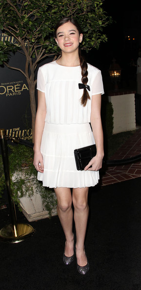 Hailee Steinfeld Cocktail Dress [hailee steinfeld,reporter,big 10 party - arrivals,the hollywood reporter,hollywood,california,los angeles,getty house,nominees night party]