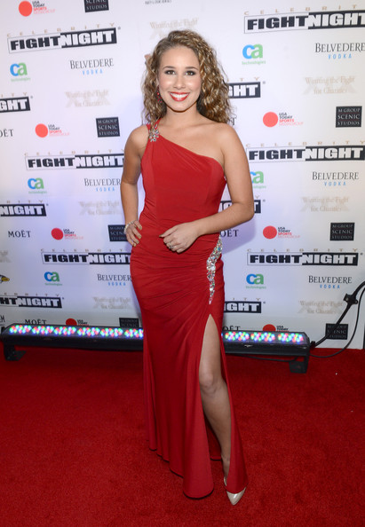 Haley Reinhart One Shoulder Dress