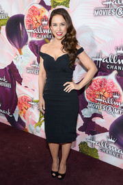 Lacey Chabert was classic in a form-fitting off-the-shoulder LBD at the Hallmark Channel Winter TCA Press Tour.