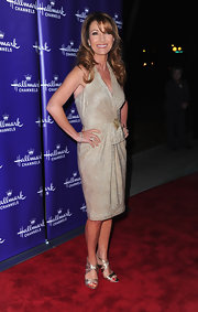 Jane Seymour dazzled in a pair of gold strappy sandals.
