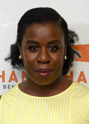 Uzo Aduba sported a ladylike half-up hairstyle at the Hand in Hand: A Benefit for Hurricane Relief.