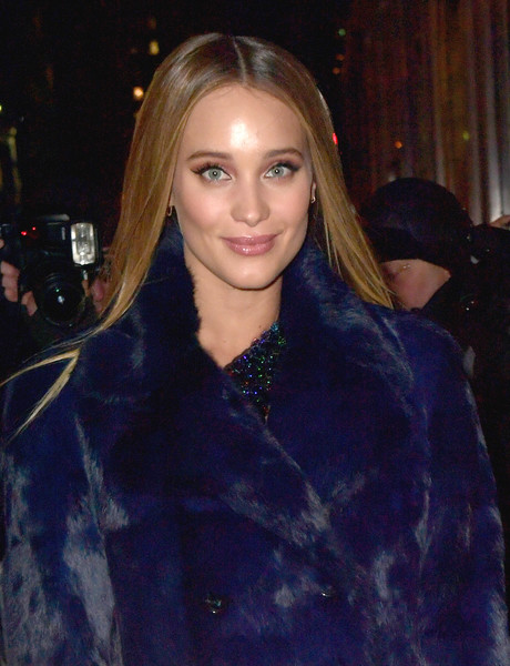 Hannah Jeter Long Straight Cut [hair,hairstyle,blond,lip,eyebrow,electric blue,beauty,fur,lady,long hair,arrivals,hannah jeter,sports illustrated,swimsuit 2017 launch,event,sports illustrated swimsuit 2017 launch,new york city,center415 event space]
