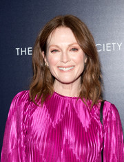Julianne Moore sported casual shoulder-length waves at the New York screening of 'The Happy Prince.'