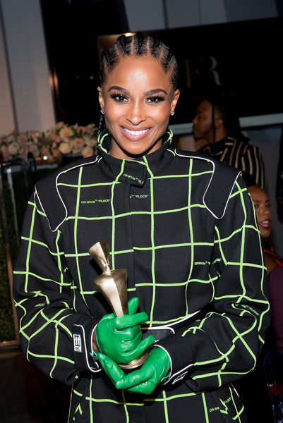 Ciara rocked a pair of green leather gloves at the Harlem Fashion Row event.