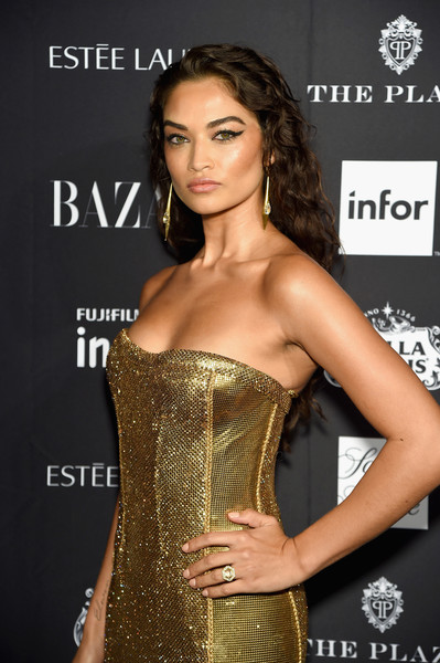 More Pics of Shanina Shaik Studded Heels  (1 of 4) - Heels Lookbook - StyleBistro [clothing,fashion model,waist,hairstyle,beauty,fashion,model,dress,corset,long hair,carine roitfeld,estee lauder,stella artois - arrivals,icons,plaza hotel,harpers bazaar celebrates,saks fifth avenue,infor,fujifilm instax,genesis]