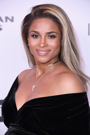 Ciara sported a gorgeous side-parted style at the Harper's Bazaar 150 Most Fashionable Women celebration.