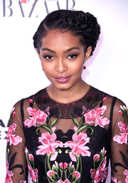 Yara Shahidi looked boho-glam with her braided updo at the Harper's Bazaar 150 Most Fashionable Women celebration.