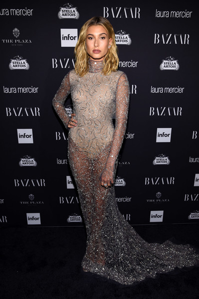 Hailey Baldwin in Naeem Khan