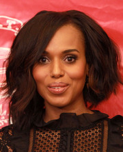 Kerry Washington attended the Hasty Pudding Theatricals Woman of the Year Award rocking this high-volume, asymmetrical cut.