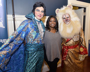 Octavia Spencer kept it low-key in a gray and black V-neck sweater at the Hasty Pudding Theatricals celebration.