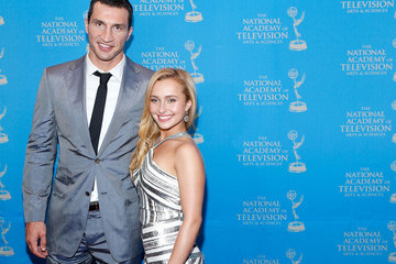 Hayden Panettiere Wladimir Klitschko Celebs at the Sports Emmy Awards Reception