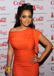 La La Anthony wore a vibrant red nail polish to complement her tomato-colored gown at the Heart Truth's Red Dress Collection 2012 Fashion Show.