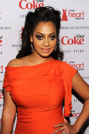 La La Anthony's heavily accented eyes totally stole the show during the Heart Truth Red Dress Collection event.