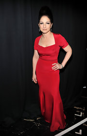 Gloria Estefan looked exquisite in a red evening dress at The Heart Truth's Red Dress Collection Fashion Show.