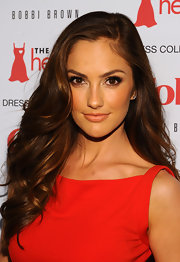 Minka Kelly attended the Heart Truth's 2012 Red Dress Collection Fashion Show wearing a creamy peach-infused beige lipstick.